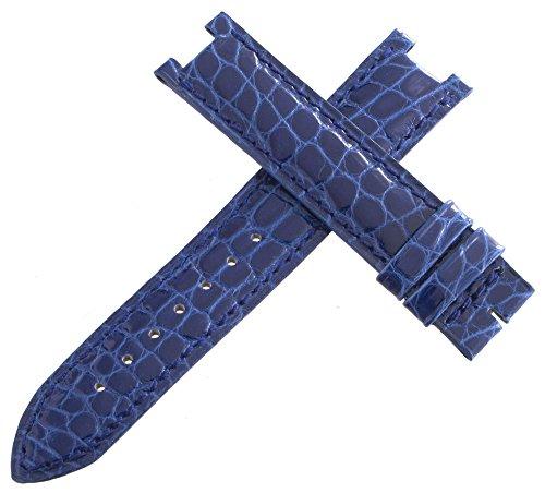 Jaeger LeCoultre Uhrenarmband mit Ausschnitt Alligator blau 16mm x 16mm