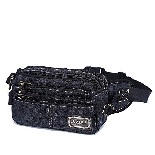 BUSL Escursione Fanny Pack di tela multi-sport borsa Messenger tasche sacchetto della cassa di spalla di svago esterno degli uomini . B D