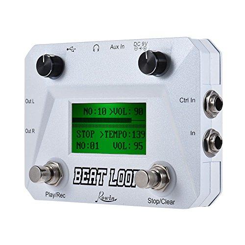 Rowin lbl-01Beat Loop Drum Maschine und Looper mit 40Drums Fuß Schalter, weiß Drum-effekte Maschine