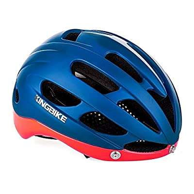 Bike Helmet,KING BIKE Adjustable cycle Helmet with UV 400 Protection Goggles,Full-coverage Shell Enhance Safety,3D Cutting Comfortable Pads,for Men Women by KING BIKE