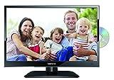 Lenco DVL-1662BK 16 Zoll LED-Fernseher (40 cm) mit DVD-Player und DVB-T2 HD, Triple-Tuner und 12 Volt Kfz-Adapter (HD Ready, HDMI, USB, SCART, CI+), schwarz