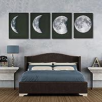 Logobeing 4 Lienzo de Impresión Mural Arte Pintura Fotos Casa Decoración Poster Abstracto Luna Negro (20*30cm)