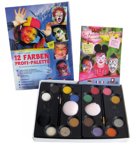 hmink-Palette, 12 Farben (Halloween Make Up Effekte)