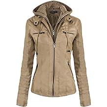 outlet store sale 97e24 b29c4 Amazon.it: Giacche Di Pelle Donna - Beige