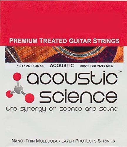 Akustische Gitarre, Premium, 80/20Bronze Akustikgitarren-Saiten, Plektrum für Gitarre mit Keep You in und ihre Strumming, mit Gitarre, Gunk Off, der (Oberfläche Medium 13