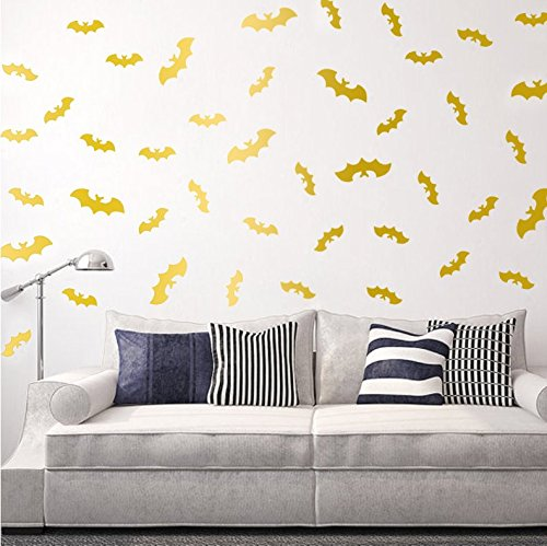 i Wand Aufkleber - gold (Halloween Wall Art)