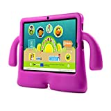 """ANOC Kids 7"""" Inch Quad Core Android Tablet PC - 1GB RAM OS 5.1 - Octa Core GPU - Bluetooth - 8GB HDD - 1024*600 HD Screen , WIFI, USB, DUAL CAMERA - Google Play - UK Warranty - Kids Extra Protection Silicon Handle Case - ANOC (Pink)"""