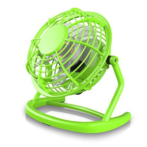 Preisvergleich Produktbild CSL - USB Ventilator | Tischventilator / Fan / Lüfter | optimal für den Schreibtisch inkl. An/Aus-Schalter | PC / MAC / Notebook | in grün