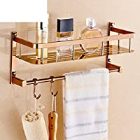 Rose placcato oro solido acciaio inossidabile multi-funzione rack/Asciugamano/ bagno con