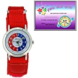 The Olivia Collection Time Teacher Red Velcro Strap Watch + Telling Time Award