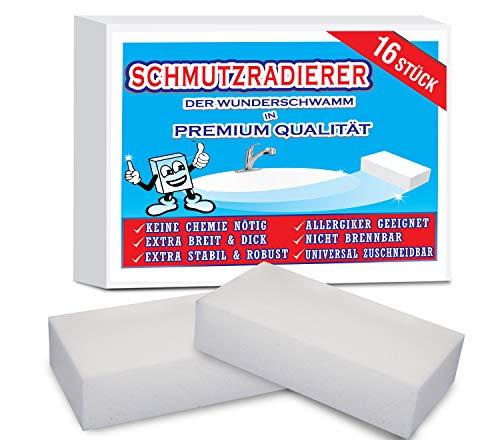 16 Stück Xxl Schmutzradierer Der Wunderschwamm! Der Magische Reinigungsschwamm Für Küche, Haushalt, Garten Oder Camping!