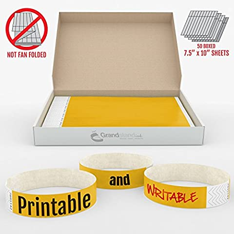 19mm Orange Fluo GrandstandStore.com Événement Tyvek Bracelets pour identification facile Accueil vip - 500CT FORT