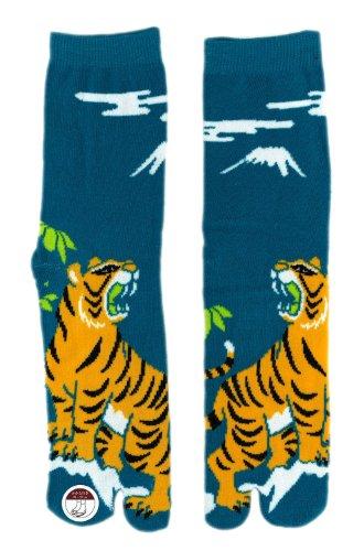 Japanische Socken Zehentrenner TIGER