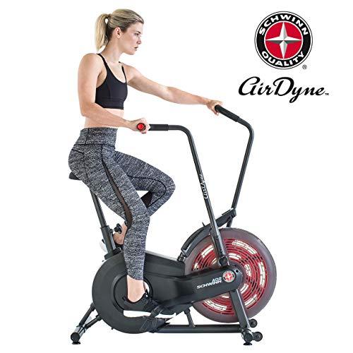 Schwinn Airdyne AD2 Fitnessbike, Indoor Cycle, Ganzkörper-Cardio-Workout, stufenloser Widerstand, leistungsstarker Antriebsriemen, BioDyne Performance, LCD Monitor, Max. Benutzer 136 kg