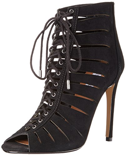 Steve Madden Cyder Dress Sandal Black Suede