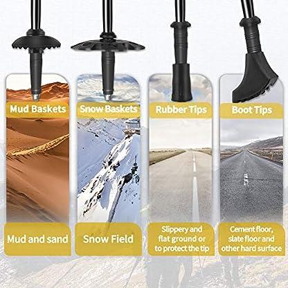 Glymnis Nordic Walking Trekking Poles 2pc/set Collapsible Lightweight Telescopic Aluminum Walking sticks with Quick Lock System for Hiking Mountaining Camping Backpacking Walking 9