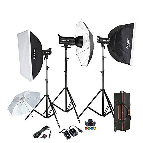 Godox Photography Flash Studio Strobe kit 3x400W Sk400 Monolight Lighting Kit Monolight Studio Kit