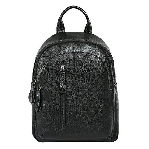 Frauen-lederner Schulterbeutel Art Und Weise Handtasche Freizeit Wilde Handtasche Rucksack Black