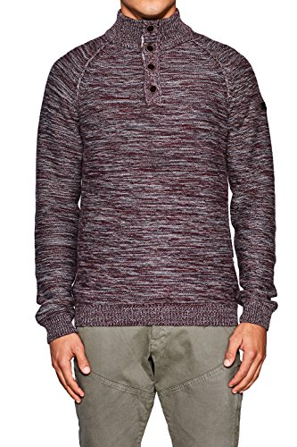 edc by ESPRIT Herren Pullover Rot (Bordeaux Red 600)