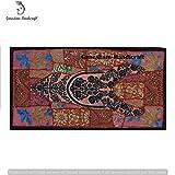 Indische Hippie Baumwolle ethnischen Wandteppichen, Kopfteil, Tischläufer, Tapisserie, Indian Patchwork Vintage Tür Volants Hand bestickt handgefertigt Vintage Wohnzimmer Gobelin