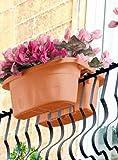 Vaso balcone fioriera doppia Klunia Bama cm 40 cod. 30230