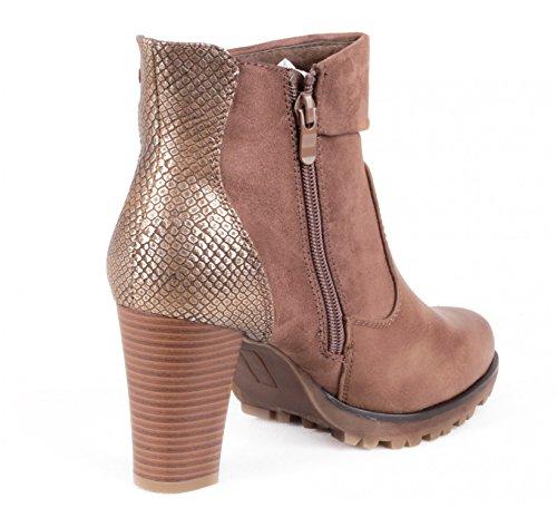 Mixmatch24 , Chaussures bateau pour femme Kaki