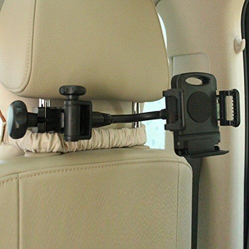 Erweiterbar Entertainment-center (Jalex (TM) Auto Kopfstütze Headseat Halterung Back Seat Handy Halter Erweiterbar Cradle für iPhone HTC Samsung Galaxy LG Google Nexus Nokia)