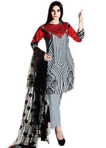 Anasha Fashions Pakistani Salwar Kameez Digital Print With Emberiordey Patch