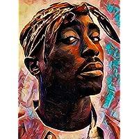 """Aluminium metal wall art """"Tupac"""""""