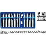VOREL 66400 - destornillador de punta hexagonal establecer, torx, 40pcs spline / caja del metal /
