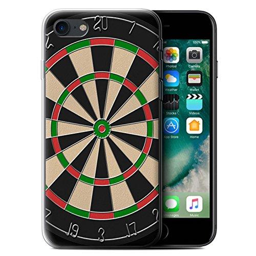 Stuff4 Gel TPU Hülle / Case für Apple iPhone 7 / Darts/Dartpfeile Muster / Spiele Kollektion Darts/Dartpfeile