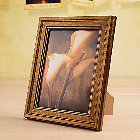 Creative continentale retrò oscillazione telaio desktop wedding snapshot picture frame parete come casella ,5 cm 9X13CM montato Swing desktop dual-use , Oro