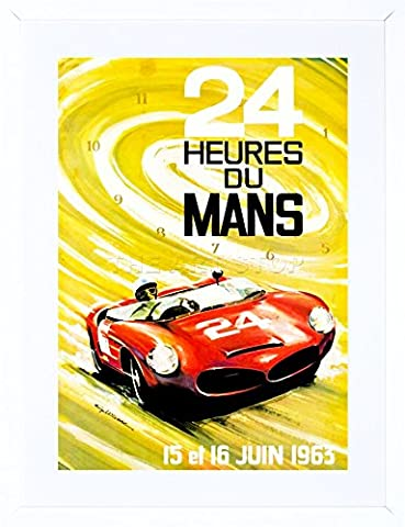 SPORT ADVERT MOTOR RACE LE MANS 24 HOUR SPEED CAR CLASSIC FRAMED ART PRINT PICTURE & MOUNT F12X1092