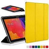 Forefront Cases® Samsung Galaxy Tab Pro 10.1 T520 Hülle Schutzhülle Tasche Bumper Folio Smart Case Cover Stand - Ultra Dünn Leicht mit Rundum-Geräteschutz und intelligente Auto Schlaf / Wach Funktion (GELB)