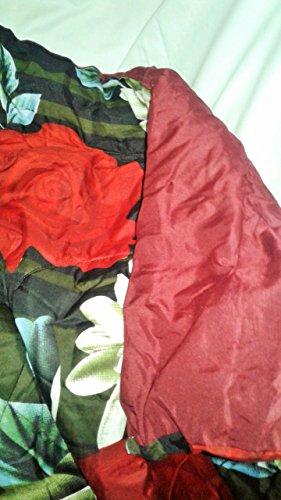 rivaz SINGLE MICROFIBRE Reversible COMFORTER ultra soft Rajai / Duvet / Dohar - (250 GSM) Flowers (Black Red 202)