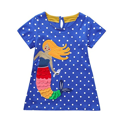Cute Baby Dress Up Outfits - JERFER Karikatur Druck Kleid Kleinkind Kinder