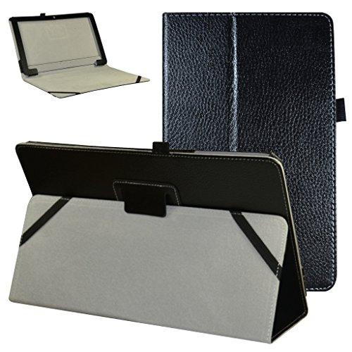 """TrekStor SurfTab twin 11.6 hülle,Mama Mouth Folding Ständer Hülle Case mit Standfunktion für 11.6\"""" TrekStor SurfTab twin 11.6 Windows 10 Tablet PC,Schwarz"""