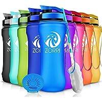 ZORRI Trinkflasche 1 L / 600ml/ 800ml/ 1.2 Liter BPA Frei Eco Auslaufsichere Wasserflasche aus Tritan, für Sport, Kinder, Schule, Gym, Fitness, Fahrrad, Nicht Edelstahl Glas