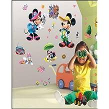 Imagen pegatinas de pared de pastel de Mickey Mouse pegatinas de pared de pastel de Mickey Mouse para niños decoración de la pared