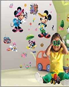 micky maus 3d effekt wandsticker mickey mouse disney. Black Bedroom Furniture Sets. Home Design Ideas