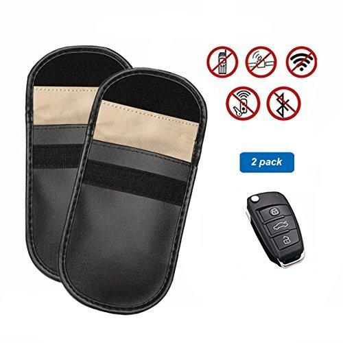 Hltd Autoschlüssel-Signalblocker-Gehäuse für Schlüssel ohne Schlüssel zum Schutz von Diebstahlsicherungen, Blockieren von Kreditkarten und jedem Signal von WiFi/GSM/LTE/NFC/RFID, 2 Packungen (Bmw Remote Start)