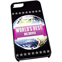 Nero cover per iPhone 5/5S 0703 Pink Worlds Best Bus driver job
