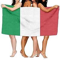 Telo mare bandiera dell' Italia 203,2x 330,2cm morbido leggero assorbente per bagno piscina coperta da picnic, yoga, pilates, questo asciugamano può rendere la vostra vita piena di colori, lasciare il tradizionale asciugamano, godetevi la s...