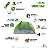 Outdoorer Strandmuschel Helios, grün, UV 60, extrem leicht, Minipackmaß -