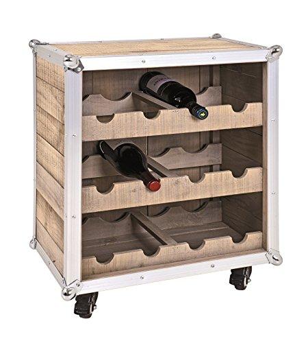 Flaschenregal bzw. Weinregal aus Kiefer Massivholz für 12 Flaschen