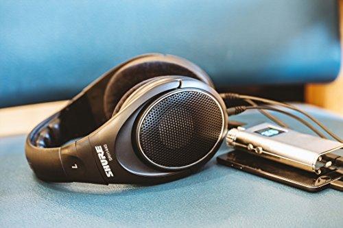 Shure SRH1440, offener Kopfhörer / Over-ear, schwarz, Premium, geräuschunterdrückend, austauschbares Kabel, Velourpolster, natürliche Wiedergabe, erweiterter Übertragungsbereich, linearer Frequenzgang - 12