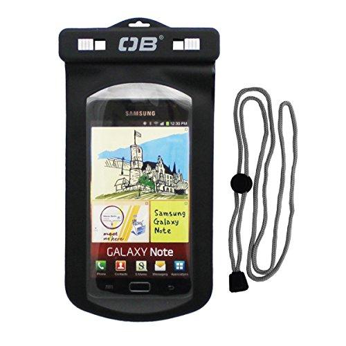 Overboard Wasserdichte Handy Tasche, Schwarz, L, OB1106BLK - Phone Wasserdichte Tasche