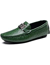SHELAIDON Slip-On Herren Mokassin Schuhe Flache Slippers Wildleder Loafers Shoes (EUR40,wine)