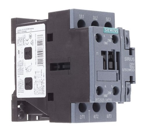 Siemens 3RT2025–1AP00Schütze, 3, 7,5kW / 400V, 1NO + 1NC, AC 230V 50HZ, 3-Stangen, SZ S0Schraubklemmen, weiß