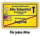 Play-Too Ortsschild Bild Geschenk Fest Geburtstag Spaß personalisiert Alte Schachtel